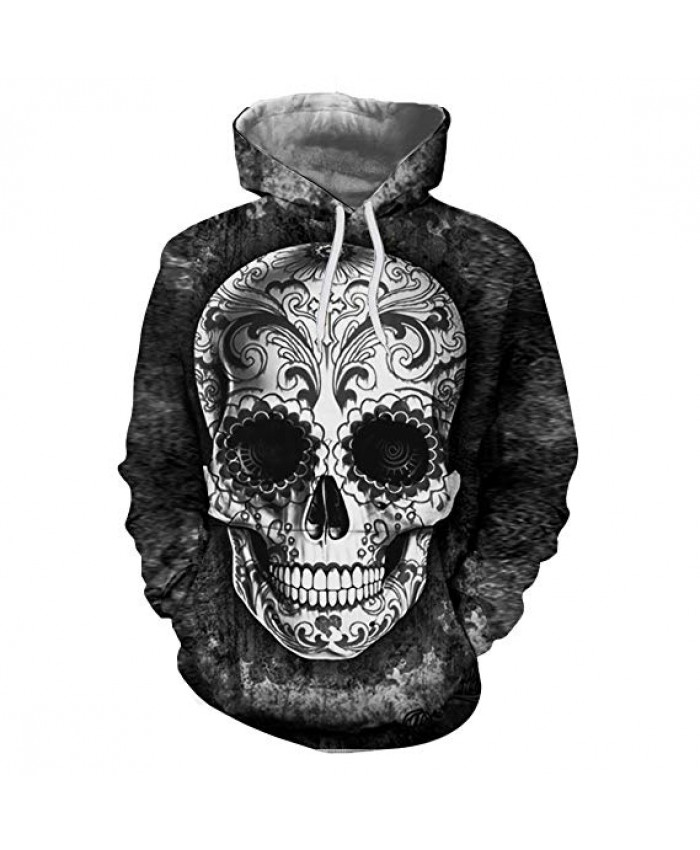 Sugar Skull Hoodies Men Sweatshirts Drop Ship Printed Hoodie 3d Hooded Tracksuits Unisex Pullover 6XL Casual Coat Male Hoodie