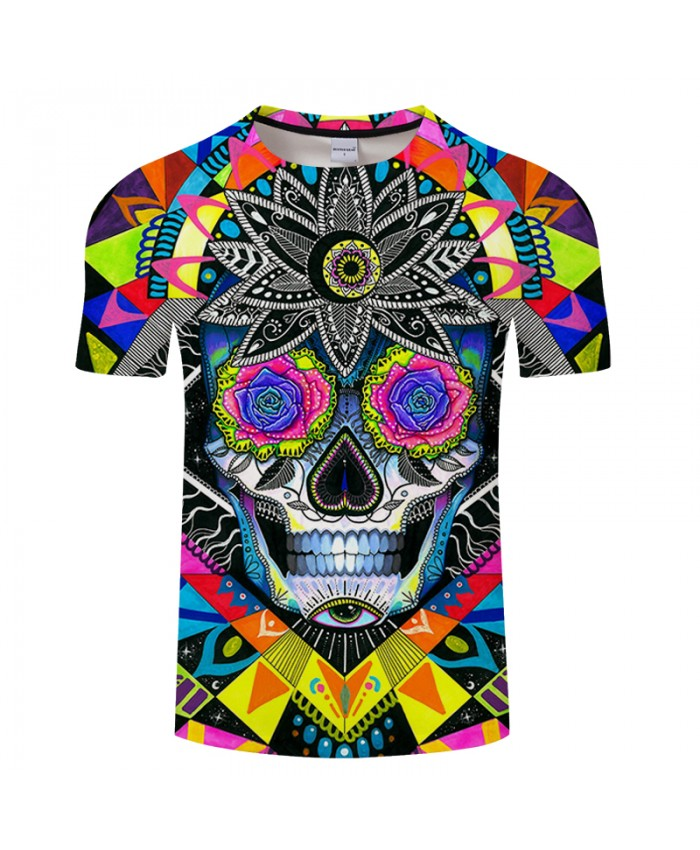 Suger skull By Pixie coldArts 3D Print T shirt Men Summer Anime Short Sleeve Top&Tee Boy Tshirt Streetwear 2021 DropShip