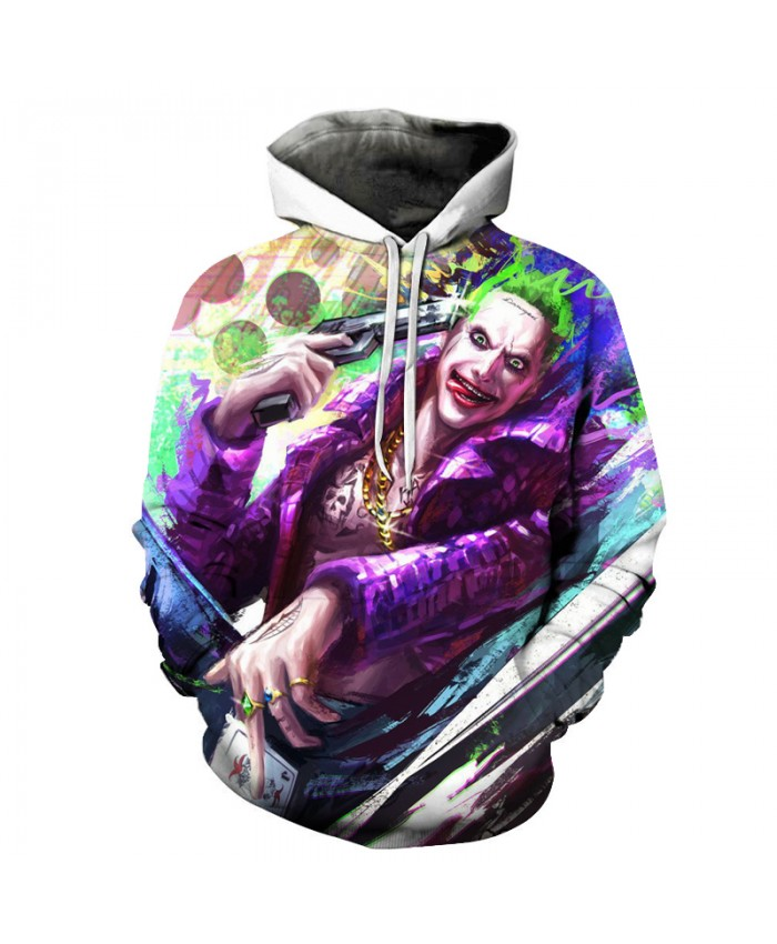 Suicide Squad Joker 3D Hoodies Men Women Sweatshirts Badass Funny Printed Pullover Autumn Winter Brand Tracksuits Boy Hoodies