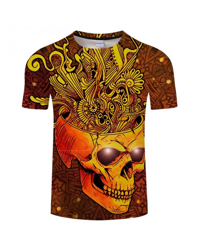 Summer Dress 3D Print T shirt Men SKULL Fashion Women T-shirtS Casual Tops Tees tshirts Drop Ship