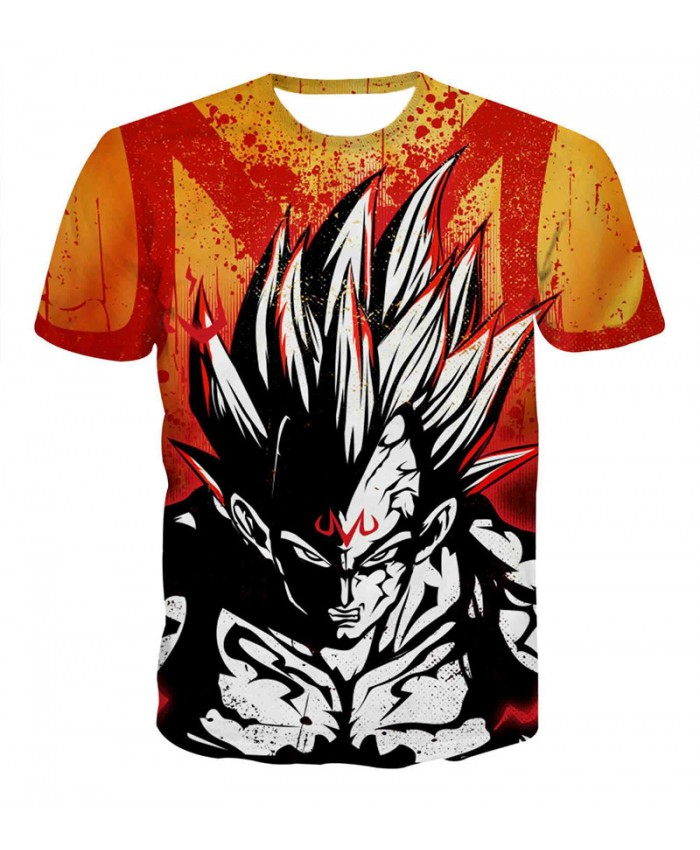 Summer Men Dragon Ball t shirt Teen Hip Hop Streetwear Funny T-shirt Superhero Vegeta Printed Tee Shirt Homme Camiseta 3D A