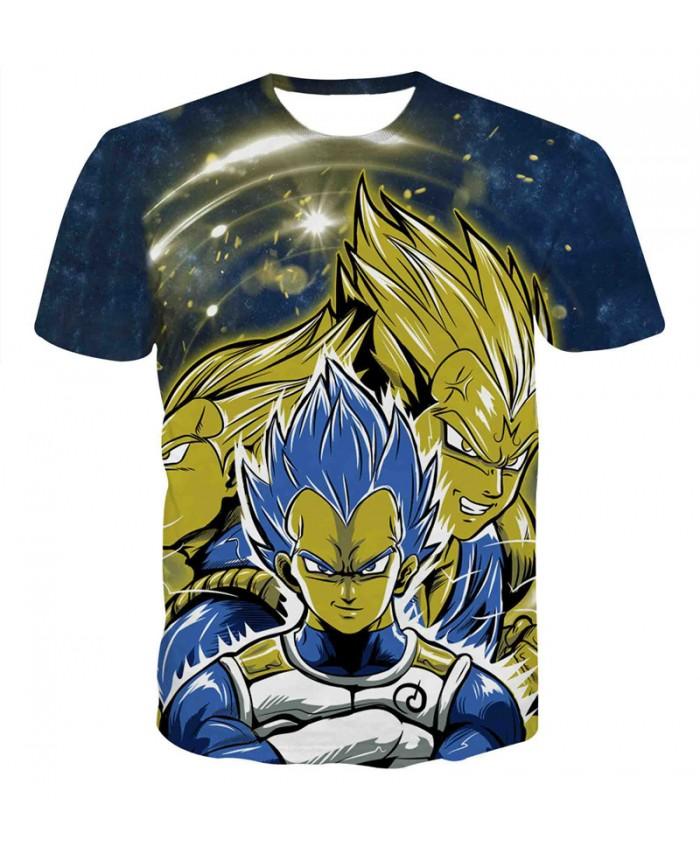 Summer Men Dragon Ball t shirt Teen Hip Hop Streetwear Funny T-shirt Superhero Vegeta Printed Tee Shirt Homme Camiseta 3D B