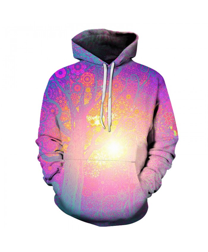 Sun Tree Printed Hoodies Men Women Sweatshirts Fashion 3D Pullover Hooded Casual Tracksuits Brand Coats Novelty Outwear Brand