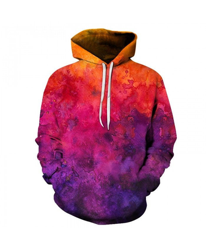 Sunrise Watercolor Art Unisex Hoodie 3D Print Sweatshirts Pullover Harajuku Mens Hoody Streetwear Coat for Autumn