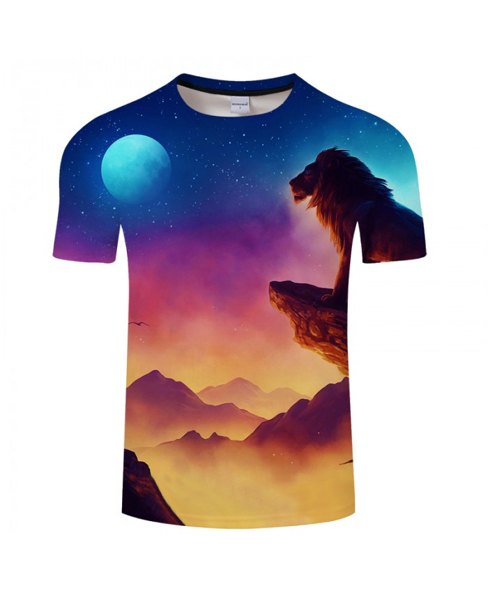 Sunrize&Lookout Lion 3D Print t shirt Men Women tshirt Summer Anime Short Sleeve O-neck Tops&Tee Camisetas Drop Ship
