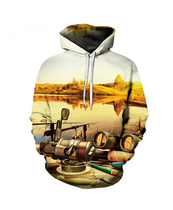 Sunset 3D Hoody Men Women Hoodies Anime Sweatshirts Fish Tracksuits Printed Pullover Harajuku Coat Boat New Drop ship
