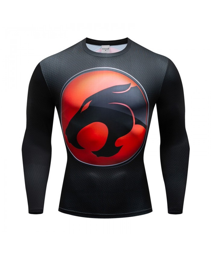 Super Hero Animal Compression Men Tshirt Bodybuilding Fitness Tops T shirts Long Sleeve Tees Cosplay Brand Crossfit New