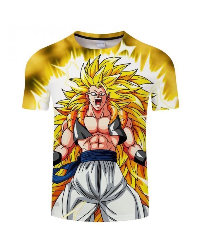 Super Saiyan 3D Print T shirt Men Summer Cartoon Short Sleeve Tops&Tees Tshirts Dragon Ball Drop Ship Camiseta 2018