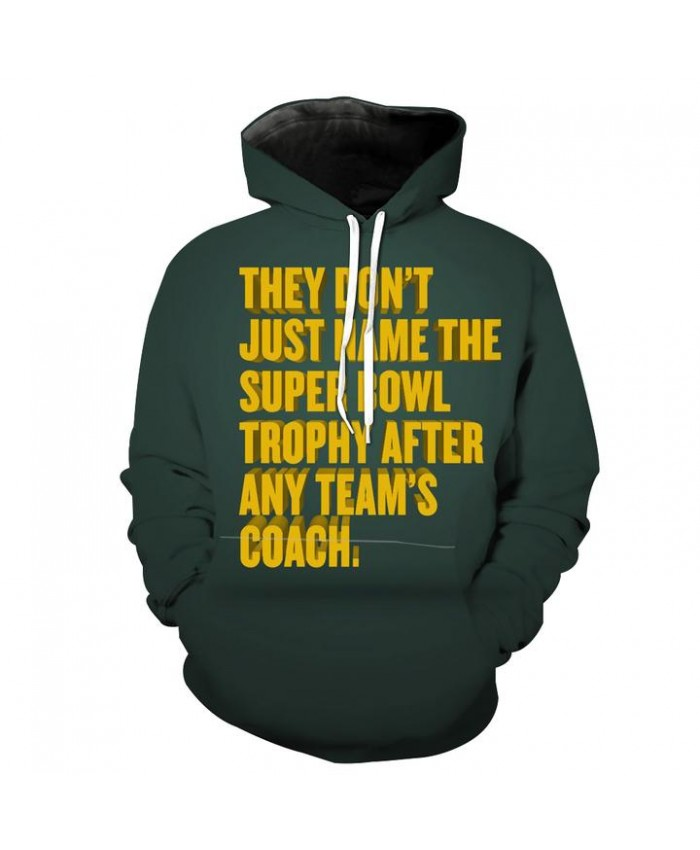 Superbowl Packers Trophy Hoodie Funny Football Hooded Sweatshirt Autumn Men Women Casual Pullover Sportswear
