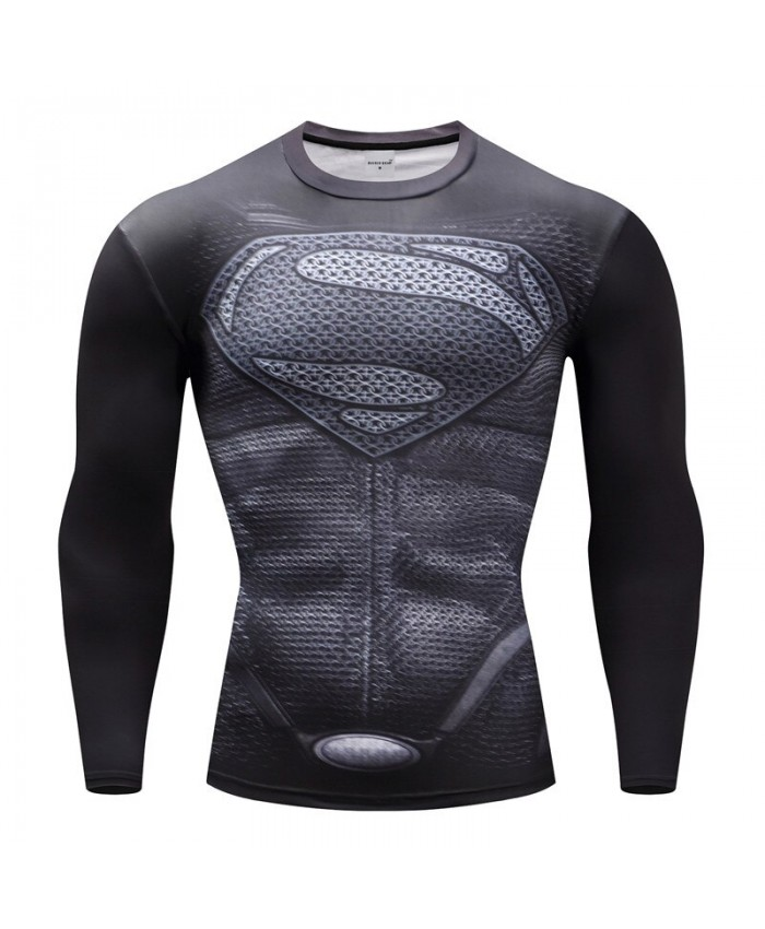 Superhero T-shirts Men Compression T-shirts Bodybuilding Fitness Tops Tees Superman Batman Iron Man Cosplay Brand