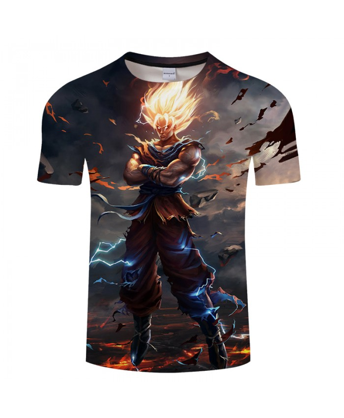 Superman 3D Print T shirt Men Women Summer Anime t shirt Streetwear Saiyan Tops&Tees Dragon Ball Tshirts Drop Ship