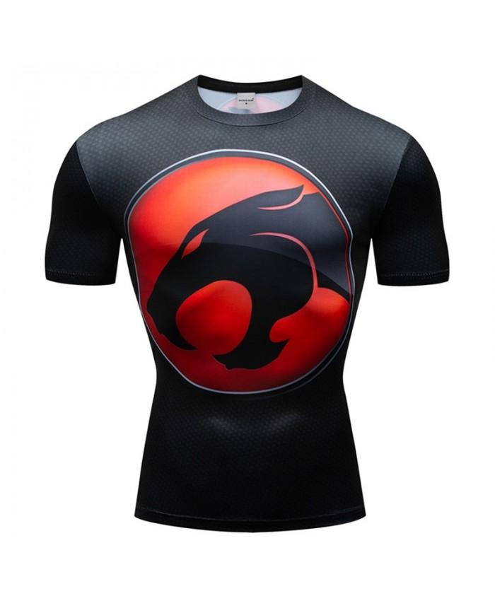 Superman Animal Head T Shirt Men Tops Short Sleeve Tees Fitness T Shirt Compression Crossfit Bodybuilding Camiseta