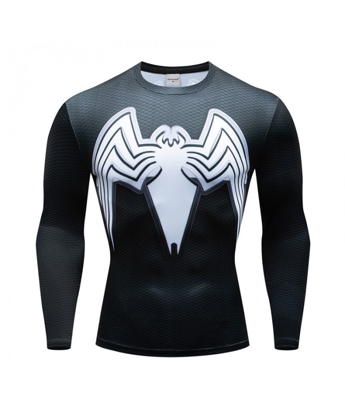 Superman Compression Men Tshirt Bodybuilding Fitness Batman Tops Tshirt Long Sleeve Tees Cosplay Brand Crossfit New