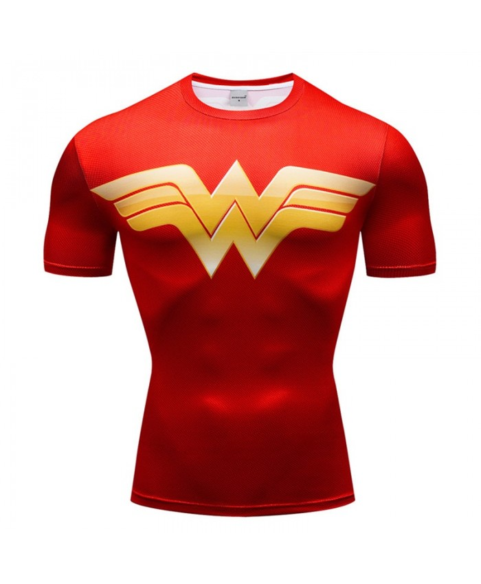 Superman T Shirt Men Tops Short Sleeve Tees Fitness T Shirt Spiderman Compression Crossfit Bodybuilding Camiseta