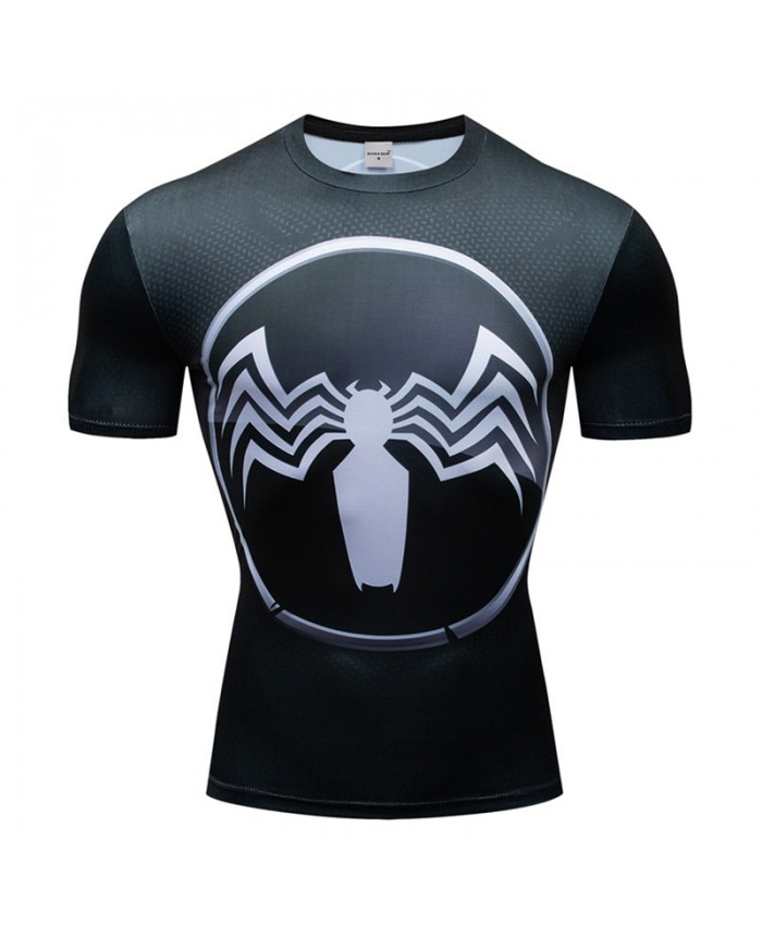 Superman VS Spiderman T Shirt Men Tops Short Sleeve Tees Fitness T Shirt Compression Crossfit Bodybuilding Camiseta