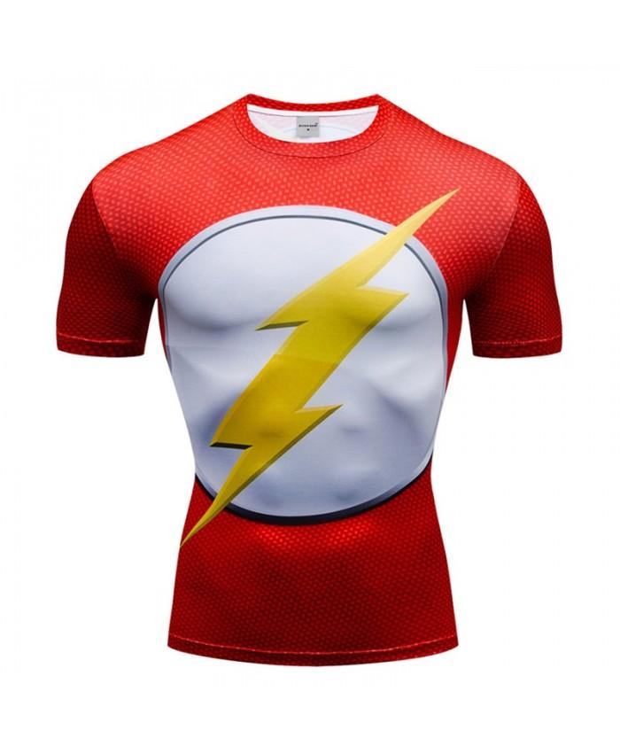 Superman lightning T Shirt Men Tops Short Sleeve Tees Fitness T Shirt Compression Crossfit Bodybuilding Camiseta