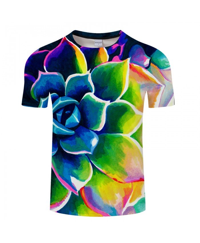 Supp Succulent By Art 3D FlowerPrint T shirt Men Women Summer Casual ShortSleeve Tops&Tees Tshirt Streatwear