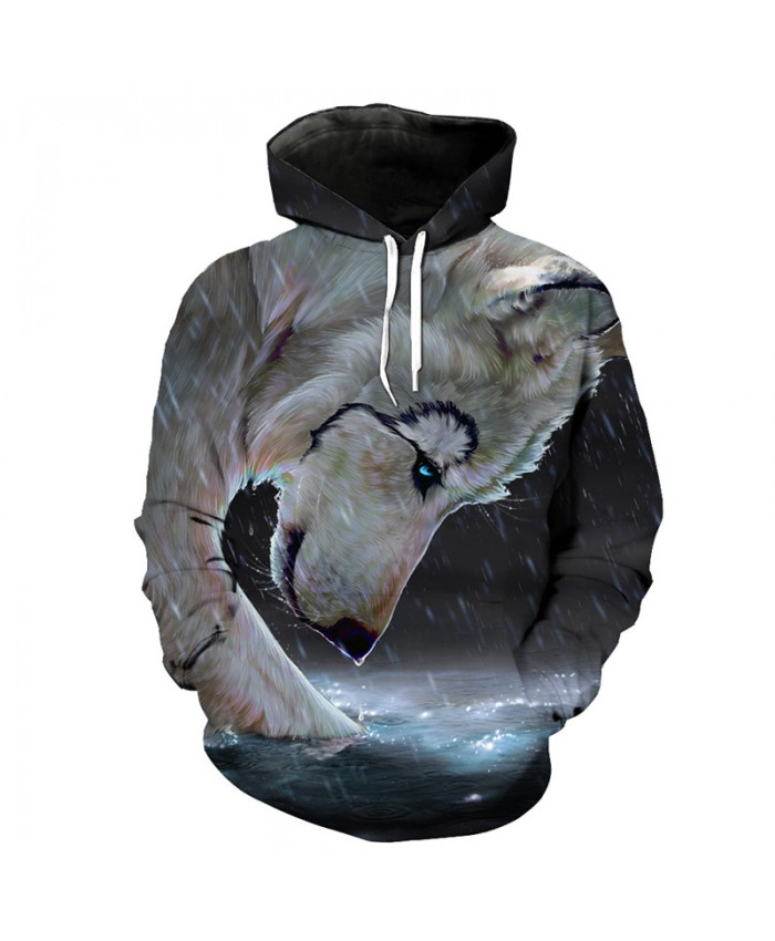 Sweatshirt Tracking Prey White Wolf Print Fashion Hoodie Pullover Men Women Casual Pullover Sportswear