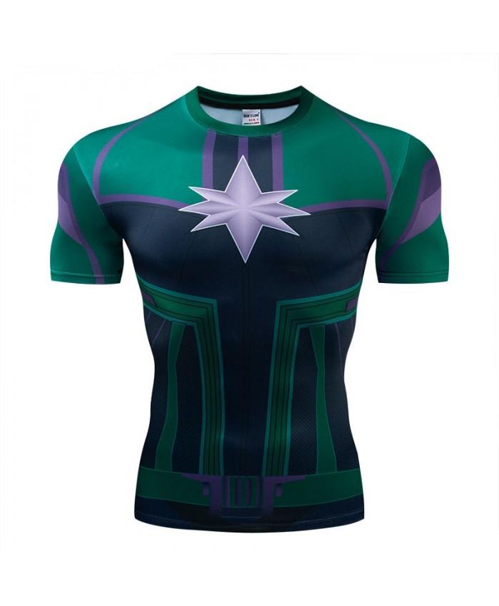 T Shirt Men Marvel Tops Short Sleeve Tees Fitness Compression Camiseta T-Shirt Bodybuilding The Avengers 4