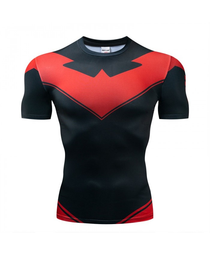 T Shirt Men Tops Short Sleeve Tees The Avengers Fitness Compression T-Shirt Avengers Endgame Bodybuilding
