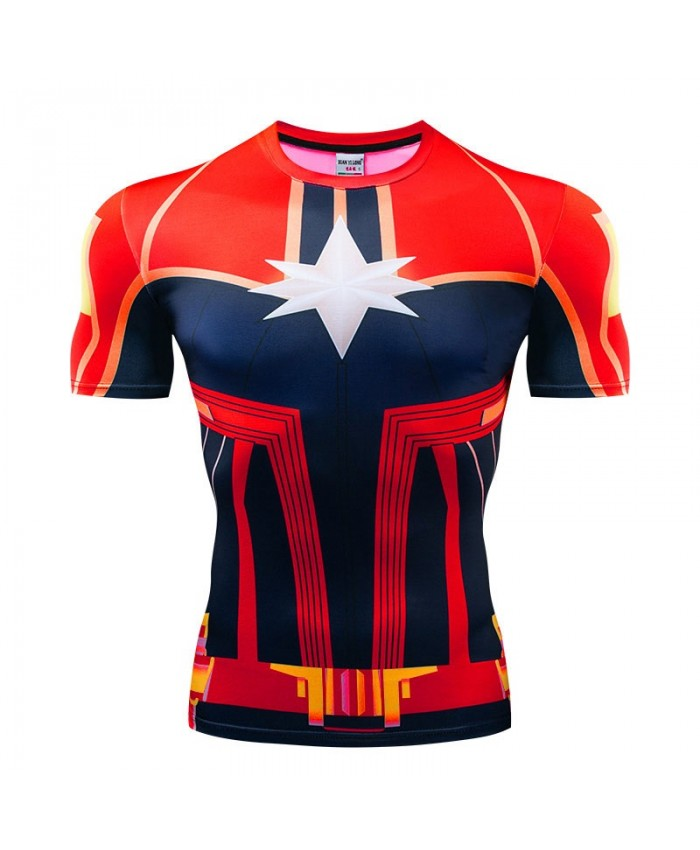 T Shirt Men Tops The Avengers Short Sleeve Tees Fitness Compression Avengers Endgame Mens T-Shirt Bodybuilding