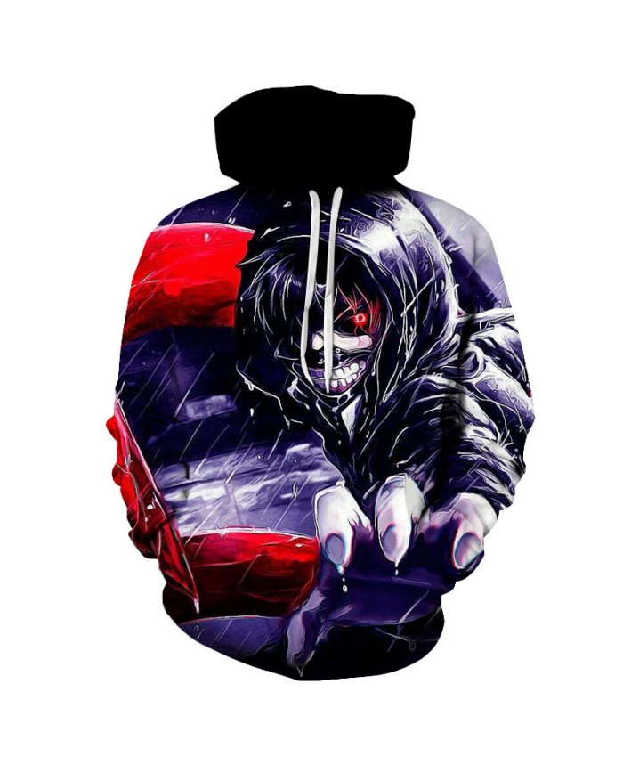 TOKYO GHOUL Printed Hoodies Men 3d Hoodies Brand Sweatshirts Boy Jackets Quality Pullover Fashion Tracksuits Streetwear Out Coat C
