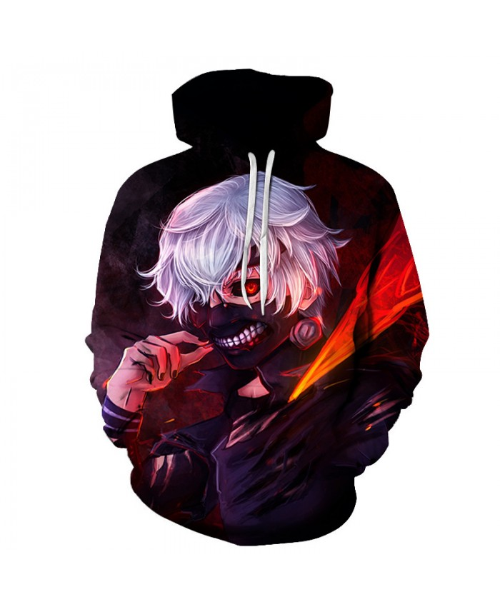 TOKYO GHOUL Printed Hoodies Men 3d Hoodies Brand Sweatshirts Boy Jackets Quality Pullover Fashion Tracksuits Streetwear Out Coat D