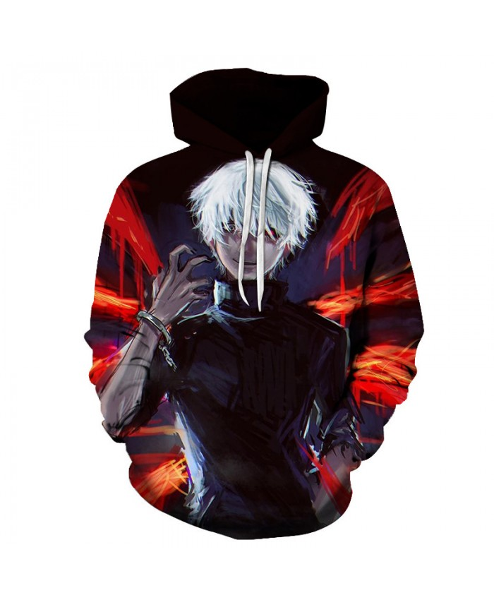 TOKYO GHOUL Printed Hoodies Men 3d Hoodies Brand Sweatshirts Boy Jackets Quality Pullover Fashion Tracksuits Streetwear Out Coat E
