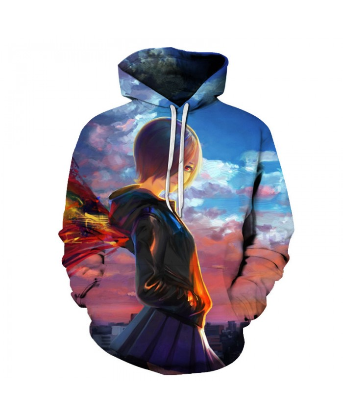 TOKYO GHOUL Printed Hoodies Men 3d Hoodies Brand Sweatshirts Boy Jackets Quality Pullover Fashion Tracksuits Streetwear Out Coat G