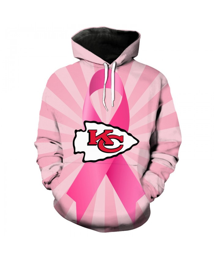 NFL Tackle Cancer Kansas City Chiefs pullover cute pink hooded sweatshirt