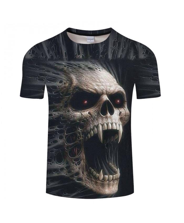 Terrior 3D t shirt Men Skull tshirt Print T-Shirt Summer Tops Casual Tees Short Sleeve Streetwear Halloween DropShip