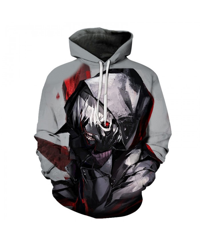 Terror Anime Tokyo Ghoul 3D Hoodies Sweatshirts Halloween Men Women Hoodie Streetwear Novelty Black Japan Tracksuit Rock Coat