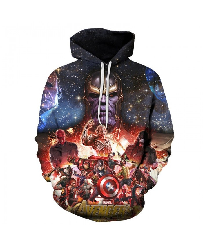 Thanos Avengers Endgame 3D Printed Men Pullover Sweatshirt Long Sleeve Sweatshirt Clothing for Men Pullover Fashion Hoodie