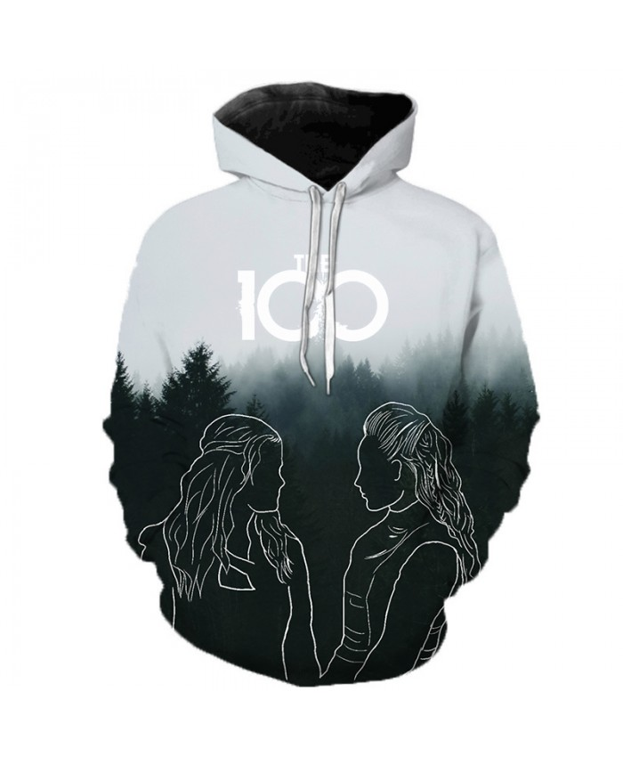 The 100 Tv Show 3D Printed Hoodies Men Women Casual Streetwear Hoody Sweatshirts Tracksuit Fashion Hip Hop Sudadera Hombre A