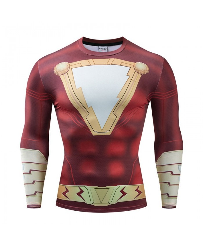 The Avengers 4 Long Sleeve Men Fitness Compression Marvel Bodybuilding Long Sleeve Tops Tee Brand Round Neck