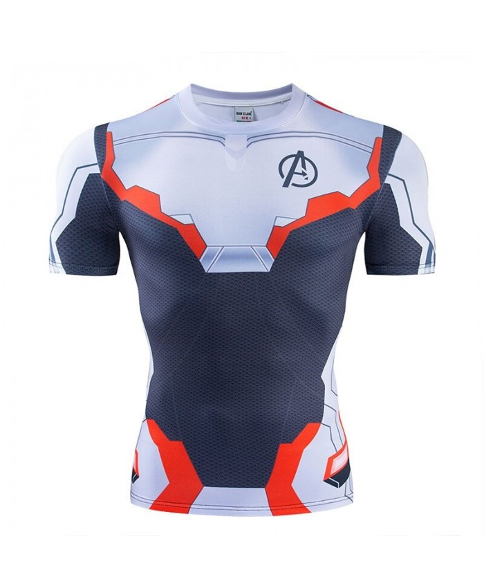 The Avengers 4 t shirt Men Tops Cool Short Sleeve Marvel Mens Tees Fitness Compression T-Shirt Bodybuilding Camiseta