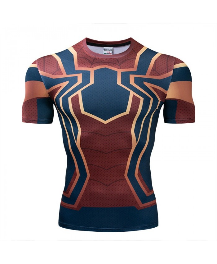 The Avengers 4 tshirt Men Tops Short Sleeve Tees Fitness Compression T-Shirt Marvel Bodybuilding Round Neck