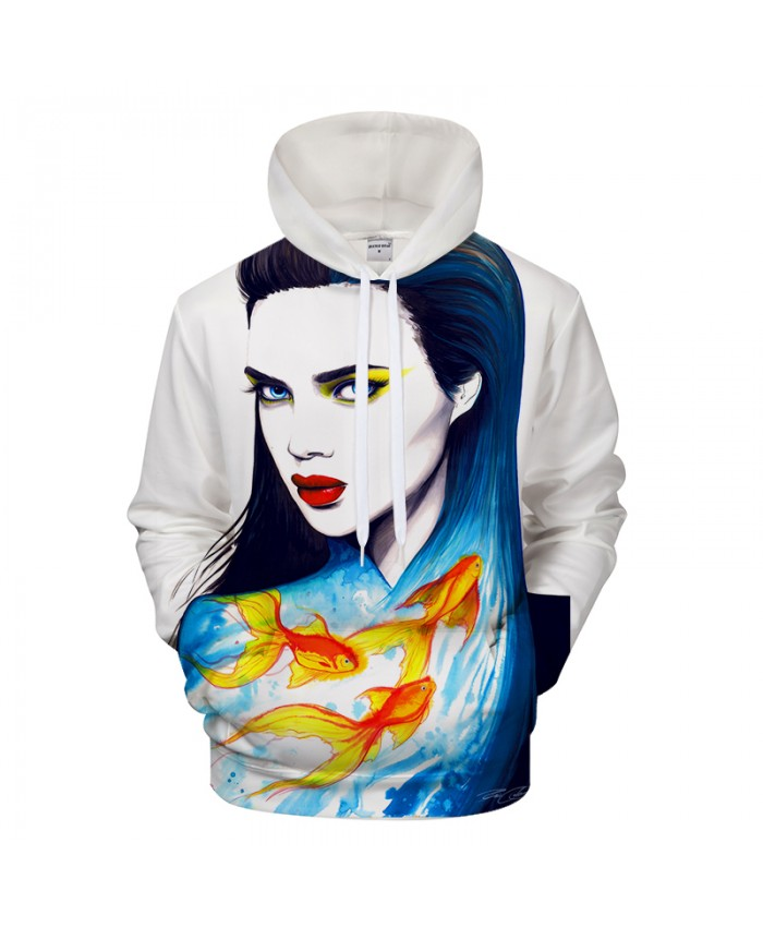 The Sea by Pixie cold Art Streetwear 3D Digital Prints Hoodies Sweatshirt Unisex Brand Pullover Drop Ship