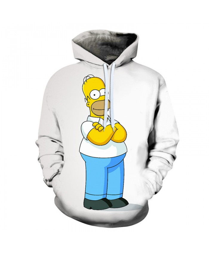 The Simpsons 3D Print Funny Harajuku Coat Hoodies Sweatshirts Clothes Men's Streetwear Hip Hop Tracksuit C