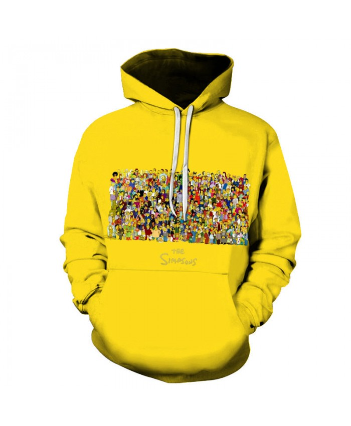 The Simpsons 3D Print Funny Harajuku Coat Hoodies Sweatshirts Clothes Men's Streetwear Hip Hop Tracksuit T