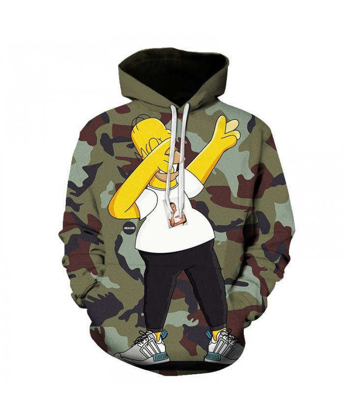 The Simpsons 3D Print Funny Harajuku Coat Hoodies Sweatshirts Clothes Men's Streetwear Hip Hop Tracksuit X