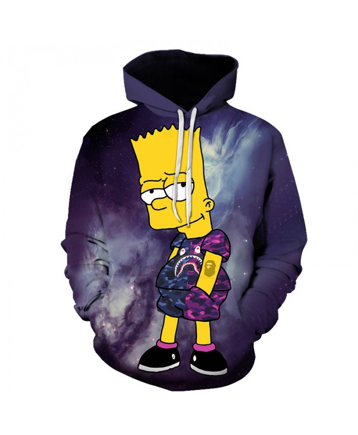 The Simpsons 3D Print Funny Harajuku Coat Hoodies Sweatshirts Clothes Men's Streetwear Hip Hop Tracksuit Y