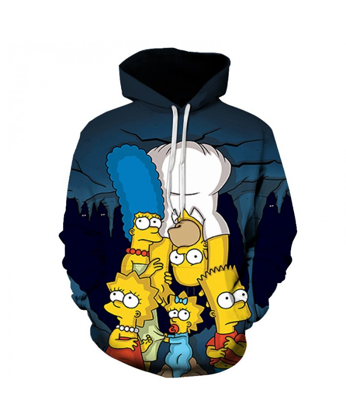 The Simpsons 3D Print Funny Harajuku Coat Hoodies Sweatshirts Clothes Men's Streetwear Hip Hop Tracksuit Z
