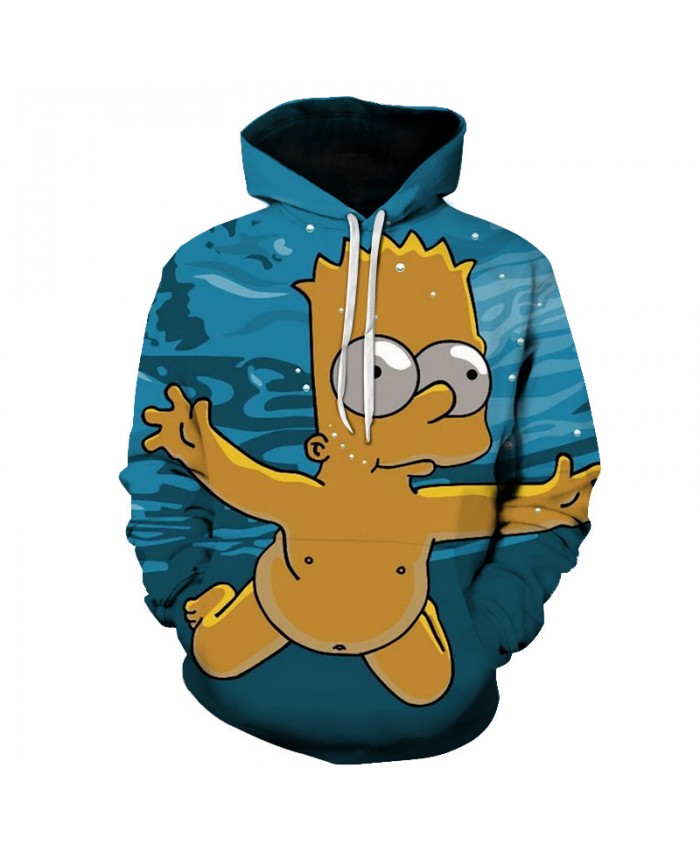 The Simpsons Hoodie 3D Print Sweatshirt Hoodies Children Wear Hip Hop Sweatshirt For Clothes E