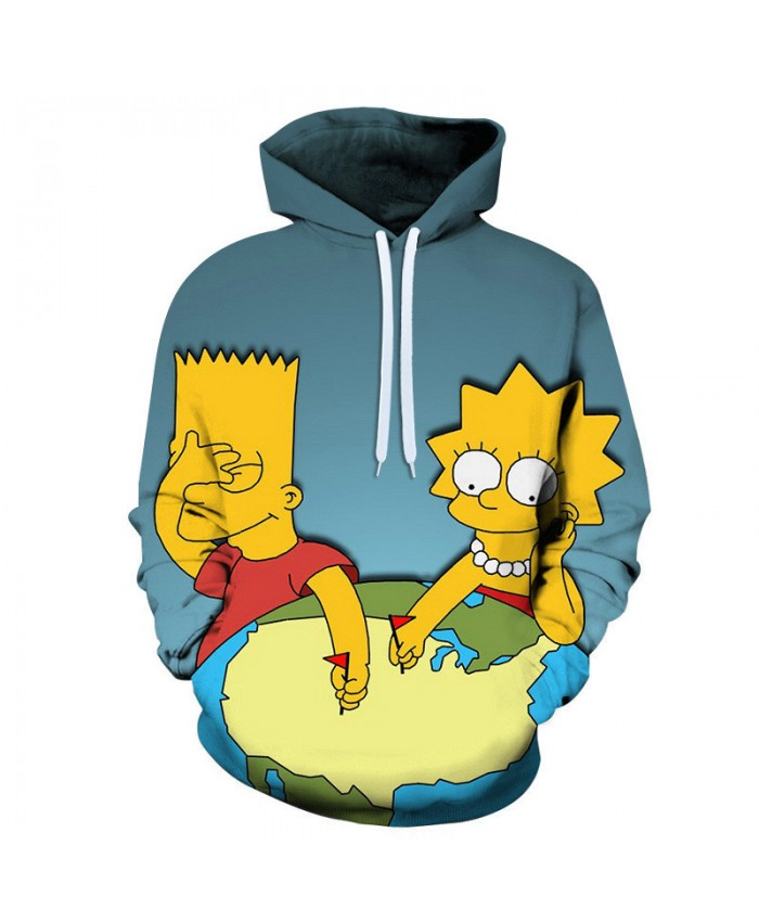 The Simpsons Hoodie 3D Print Sweatshirt Hoodies Children Wear Hip Hop Sweatshirt For Clothes I
