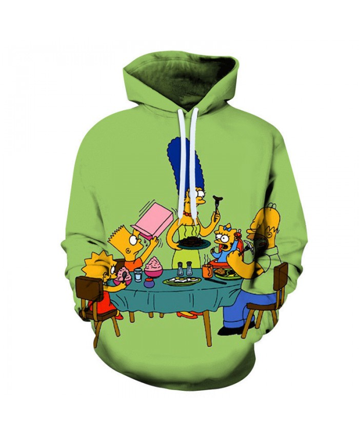 The Simpsons Hoodie 3D Print Sweatshirt Hoodies Children Wear Hip Hop Sweatshirt For Clothes L