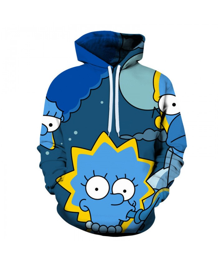 The Simpsons Hoodie 3D Print Sweatshirt Hoodies Children Wear Hip Hop Sweatshirt For Clothes N