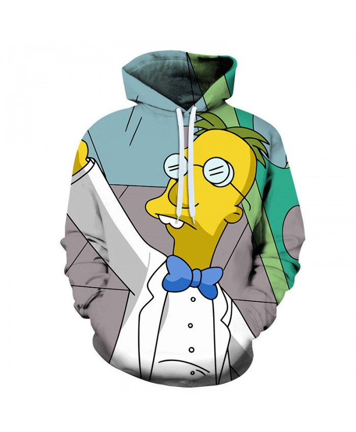 The Simpsons Hoodie 3D Print Sweatshirt Hoodies Children Wear Hip Hop Sweatshirt For Clothes X