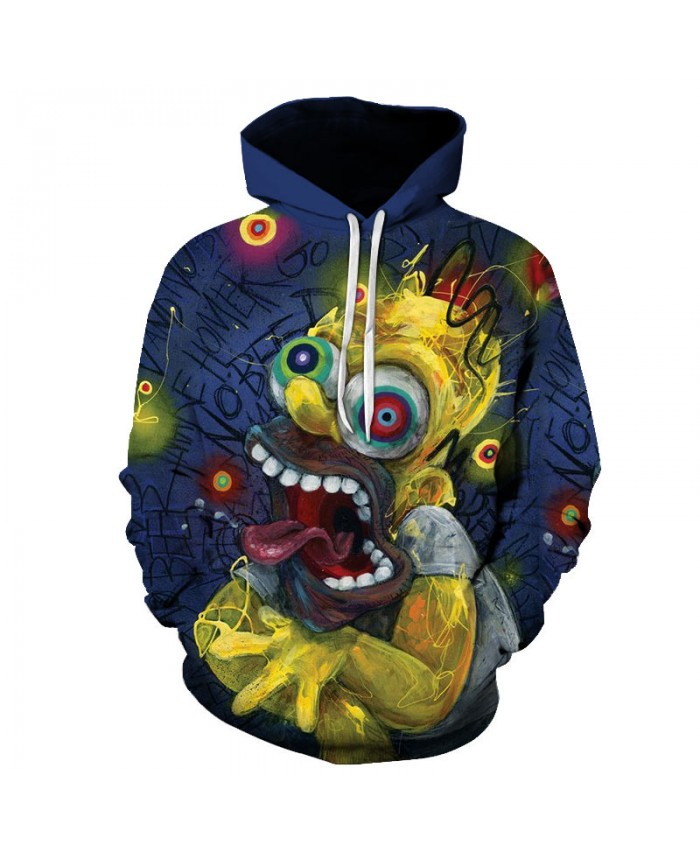The Simpsons Printed 3D Men Women Hoodies Sweatshirts Quality Hooded Jacket Novelty Streetwear Fashion Casual Pullover E