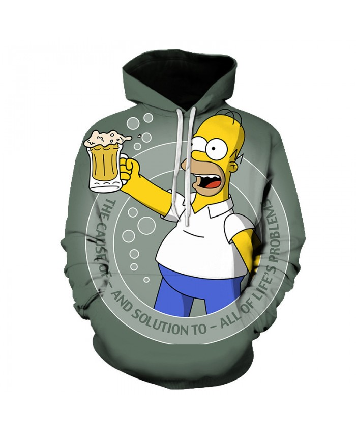 The Simpsons Printed 3D Men Women Hoodies Sweatshirts Quality Hooded Jacket Novelty Streetwear Fashion Casual Pullover FF